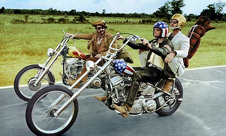 Dennis Hopper, Peter Fonda and Jack Nicholson in Easy Rider
