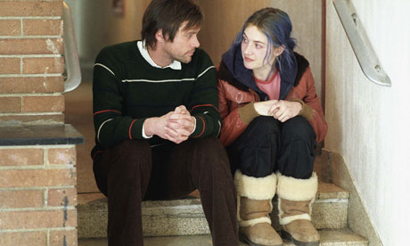 Jim Carrey and Kate Winslet in Eternal Sunshine of the Spotless Mind.