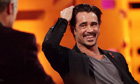 Colin Farrell recording The Graham Norton Show last week.