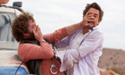 Zach Galifianakis and Robert Downey Jnr in Due Date