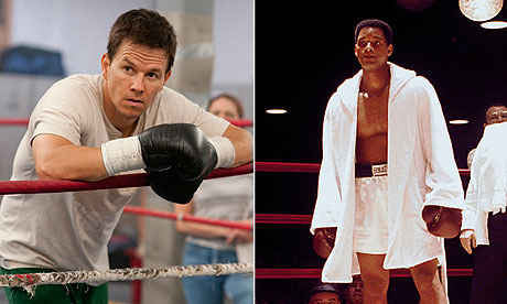 Celebrity deathmatch ... Mark Wahlberg in The Fighter and Will Smith in Ali.