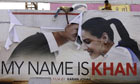 Shiv Sena supporters tear My Name Is Khan poster in Ahmedabad