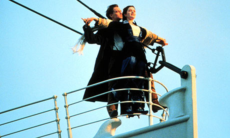 Leonardo DiCaprio and Kate Winslet in a scene from Titanic