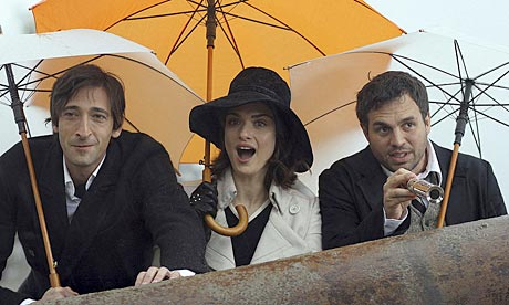 Adrien Brody, Rachel Weisz and Mark Ruffalo in The Brothers Bloom