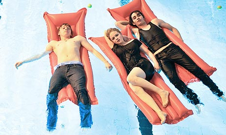 Rupert Grint, Kimberley Nixon and Robert Sheehan in Cherrybomb