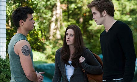 Taylor Lautner, Kristen Stewart and Robert Pattinson in The Twilight Saga: Eclipse