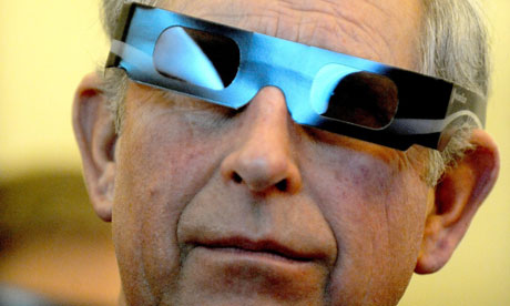 Prince Charles wearing 3D glasses in Budapest, March 2010