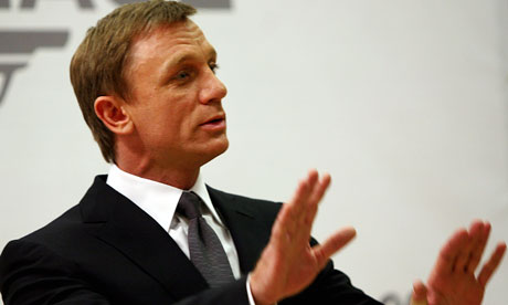 Daniel Craig poses for photographers at a photocall for the new James Bond film Quantum of Solace