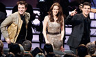 Twilight stars Robert Pattinson, Kristen Stewart and Taylor Lautner at the People's Choice Awards