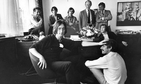 Apple Corps office, 1968, with the Beatles