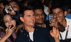 Tom Cruise with fans in Mumbai