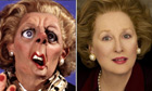 Margaret Thatcher: on Spitting Image and as played by Meryl Streep