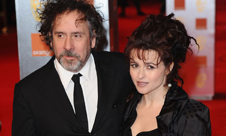 Helena Bonham Carter and director Tim Burton