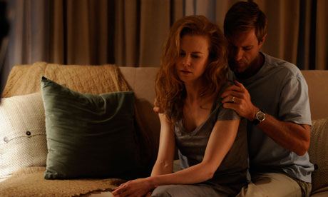 Nicole Kidman and Aaron Eckhart as grieving parents Becca and Howie Corbett in Rabbit Hole.