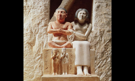 The Dwarf Seneb and his Family, Egyptian Museum, c2500BC