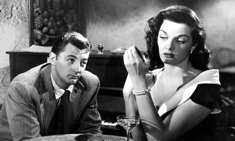 Jane Russell with Robert Mitchum in 1951's His Kindof Woman