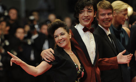 Cannes 2011: Lynne Ramsay, British actor Ezra Miller and Rory Stewart