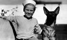 Jackie Cooper with dog Skippy in 1933
