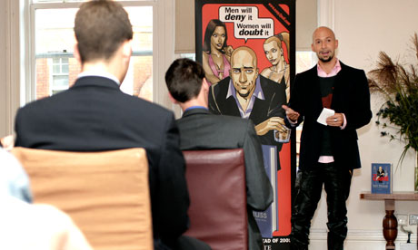 Neil Strauss, writer of The Game, giving a seminar