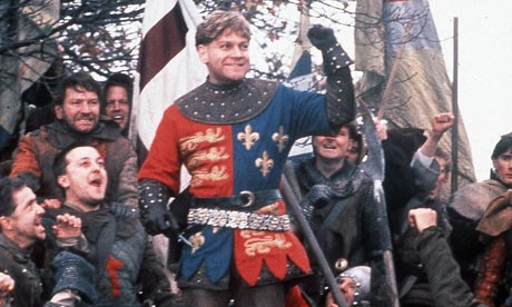 A still from Kenneth Branagh's Henry V