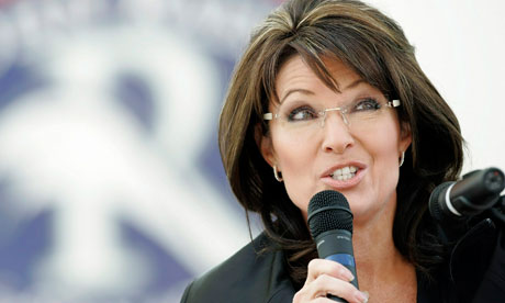 Sarah Palin at a rally in 2010