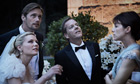 Lars Von Trier's Melancholia: characters at a wedding looking up into the sky