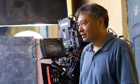 Top cat … Ang Lee on the set of Life of Pi.