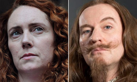 Casting the news composite: Rebekah Brooks and Mark Gatiss
