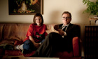 Sofa so good … Eloise Laurence and Tim Roth in Rufus Norris's Broken