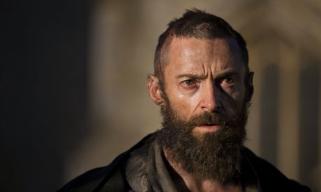 On song … Hugh Jackman as Jean Valjean in Tom Hooper's Les Misérables.