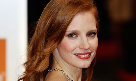 Jessica Chastain at the Baftas 2012
