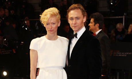Baftas 2012: Tilda Swinton and Tom Hiddleston