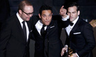 Oscars 2012: TJ Martin, Dan Lindsay and Rich Middlemas accept their award