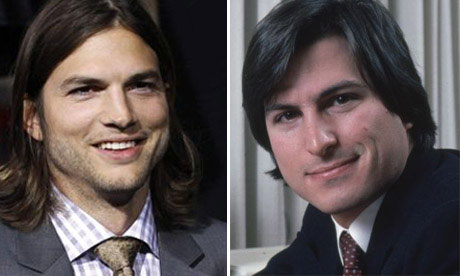 Ashton Kutcher and Steve Jobs