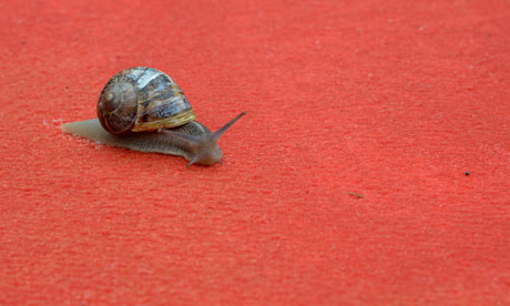 Cannes 2012 snail red carpet