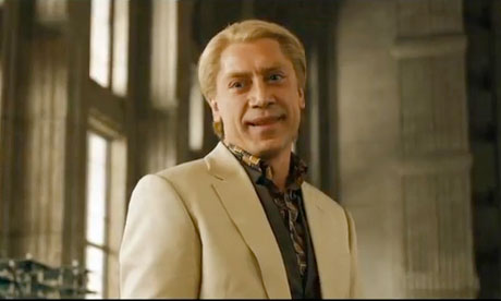 Javier Bardem, being creepy