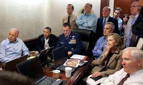 Barack Obama with US national security team