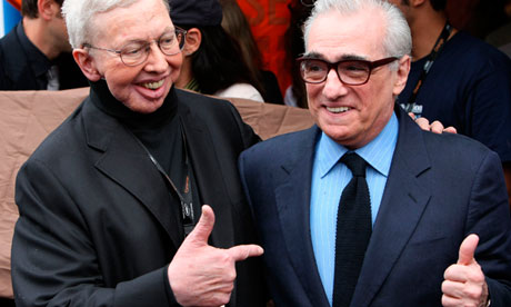 Roger Ebert, left, pictured with Martin Scorsese in 2009.