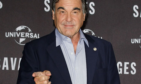 Shoot … Oliver Stone at a photocall for Savages in Berlin.