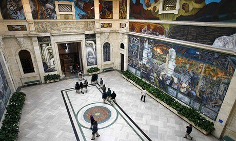 Detroit considers alternative plans to save museum 39 s for Diego rivera mural dia