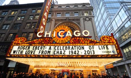 Roger Ebert memorial at the Chicago theatre