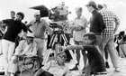 Moustapha Akkad, front right, shooting the only previous Muhammad biopic, The Message, released in 1