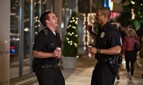 Backfiring … Jake Johnson and Damon Wayans Jr in Let's Be Cops.