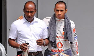Lewis Hamilton and father Anthony