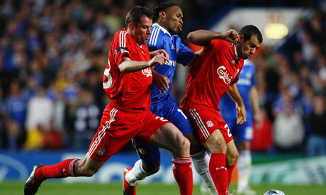 Chelsea and Liverpool at Stamford Bridge on April 14, 2009.