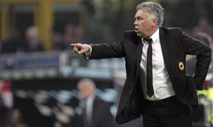 Carlo Ancelotti saw AC Milan's slim hopes of winning the Serie A title all but disappear