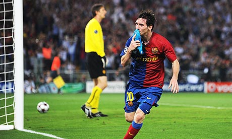 Messi scores against United