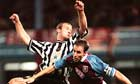 Alan Shearer and Gareth Southgate clash in their playing days