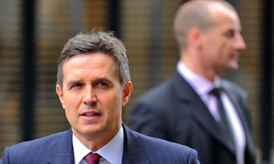 The chief executive of Liverpool FC, Christian Purslow, arrives at the high court