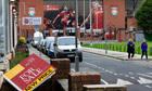 Liverpool for sale: An estate agent's board in the garden near Anfield
